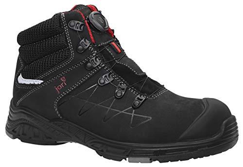 JORI Sicherheitsschuhe jo Max BOA Mid S3, Damen und Herren, Sneaker, sportlich, leicht, Schwarz, Kunststoffkappe - Größe 45