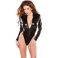 Allure, Women's Naughty Kitten Bodysuit, One Size, Black