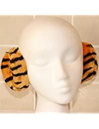 Tiger Stripe Animal Print Plush Wraparound Ear Muffs