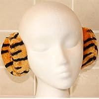 Tiger Stripe Animal Print Plush Wraparound Ear Muffs