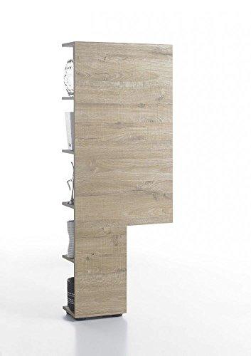 Verstecktes Regal in Eiche oder Wenge Nachbildung, 55x145x22 cm