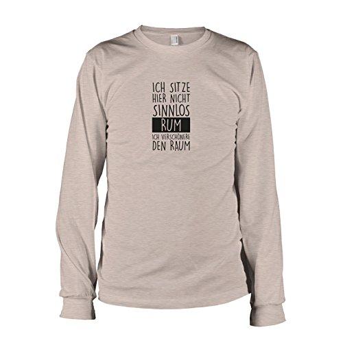TEXLAB - Ich sitze hier nicht sinnlos rum - Langarm T-Shirt Graumeliert