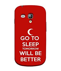 Fuson Designer Back Case Cover for Samsung Galaxy S3 Mini I8190 :: Samsung I8190 Galaxy S Iii Mini :: Samsung I8190N Galaxy S Iii Mini (Better Tomorrow Sleep Moon )