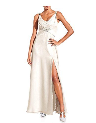 Ashley Brooke Event Designer Abendkleid mit Strass, Creme 38 (Designer Abendkleider)
