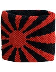 Schweißband Motiv Fahne / Flagge Rot-Schwarz + gratis Aufkleber, Flaggenfritze®