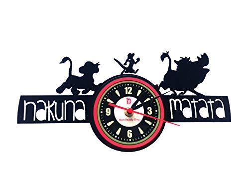 König der Löwen Hakuna Matata Einzigartige Schallplatte handgefertigt für Weihnachten, Halloween und Kinder, 30 cm, Schwarz ()