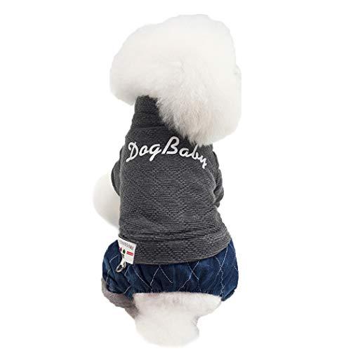 BINGMAX Hundekleidung Für Kleine Hundepullover Hund Kleidung Warm Hundemantel Weste für Herbst Winter -