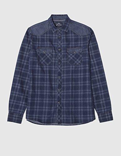 Celio Damix - Chemise habillée - Taille ajustée - Col classique - Manches longues - Homme Bleu (Indigo 11)