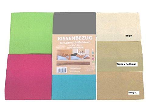 Bezug für Seitenschläferkissen aus Baumwolle ca. 40x145 mit RV (Anthrazit)