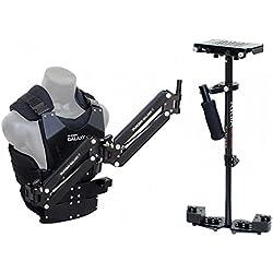 Stabilisateur HD-3000 pour appareil photo reflex mono-objectif numérique et caméra - Avec double-bras articulé Galaxy et gilet stabilisateur (GLXY-AV-HD-3) | Livré avec accessoires