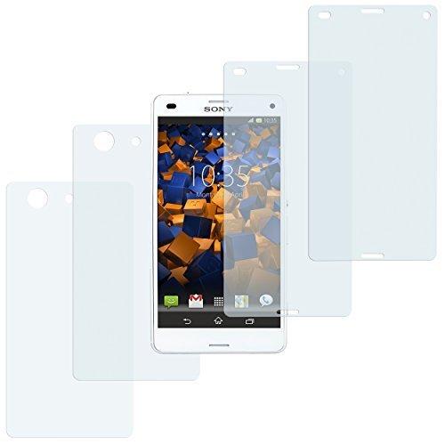 4x mumbi Schutzfolie für Sony Xperia Z3 Compact Folie Displayschutzfolie (2 x VORNE und 2 x RÜCK Folie) (Z3 Compact Displayschutzfolie)