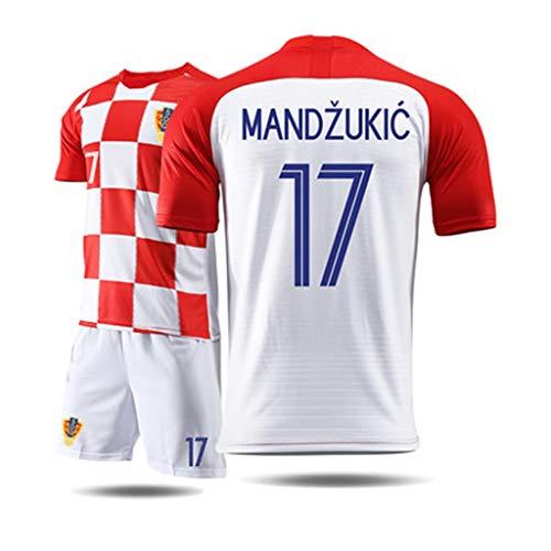LHKJB Camiseta de Manga Corta pantalón Traje de Entrenamiento de fútbol de Croacia Copa del Mundo Jersey de Jersey Ropa Deportiva (Color : C, Tamaño : M)