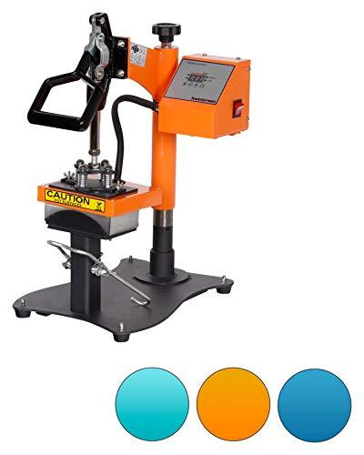 RICOO Mützen-Presse Cappresse Transferpresse Transfer Presse Textildruck-Presse CT505-GS Thermo-Presse Cap-Presse, Farbe:Gelb / Orange