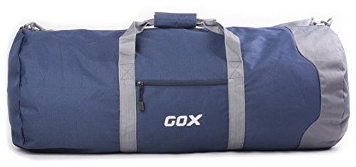 Borsone Pieghevole da Viaggio per Bagagli, GOX Premium Impermeabile Grande borsone da viaggio con tracolla in 1000D Polyester, per Sport, Palestra, Camping (Large, Blu)