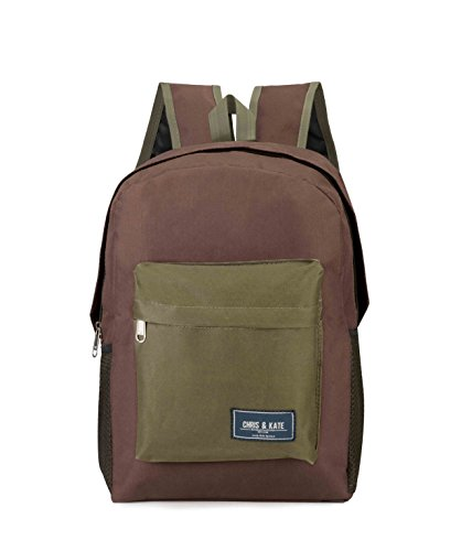 Chris & Kate Brown School Bag | College Bag | Casual Backpack (21 litre)(CKB_128RB)  available at amazon for Rs.199