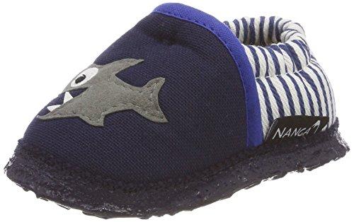 Nanga Unisex Baby Pirat Krabbelschuhe, Blau (dunkelblau), 20 EU