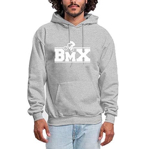 8eec0d684be Homme Sweat à Capuche Outdoor Sports BMX Logo - Classic   Comfortable  Pullover Hoodie Sweatshirt Gray