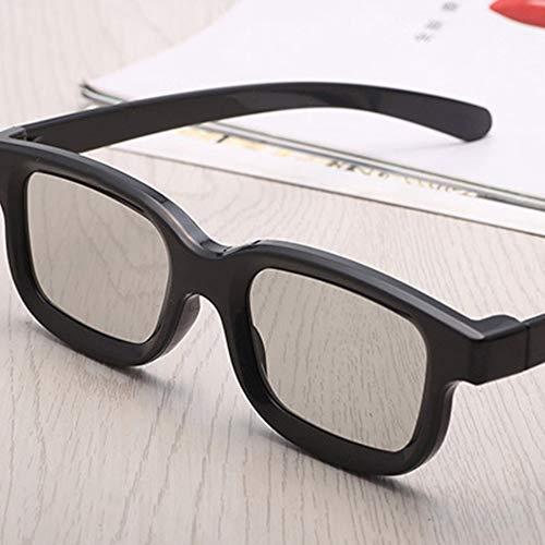 Universal Unisex ABS Rahmen 3D Film Brille Stereo Nicht Flash Für 3D TV Kinos - Schwarz (Flash Adult Film)