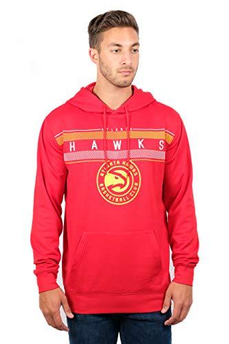 NBA Herren Fleece Hoodie Pullover Sweatshirt Poly Midtown, Herren, Midtown Hoodie,GHM1461F-AH-2XLarge, rot, XX-Large