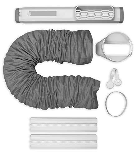 AEG Awk02 PX7/Chillflex (Premium Fenster-Set - Ideal für Portable Klimaanlagen, schnell und einfach Installiert, Stabile Verriegelung, 15 cm Durchmesser) 900923067, Weiß/Grau