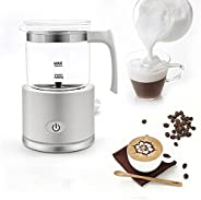 Glass Coffee Milk Maker, Automatic Cooling And Heating, With Detachable Glass Jug And Non-slip Feet, Handheld
