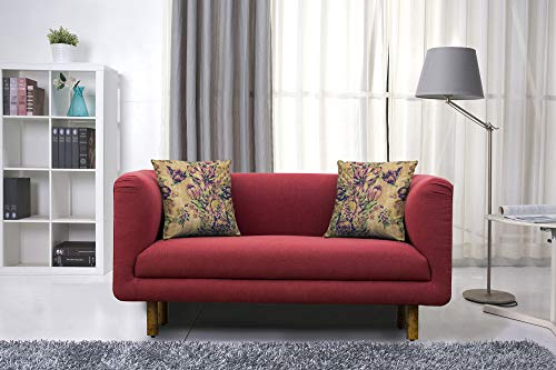 Peachtree Napier Maroon Fabric 2 Seater Sofa