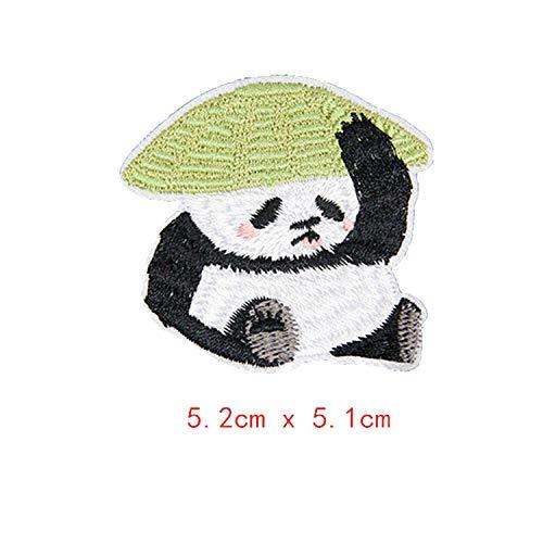Graziose toppe a forma di panda, per vestiti e vestiti, adesivi, da applicare con il ferro da stiro, ricamate, graziose spille, con ricamo, 1-pcs-a3, taglia unica