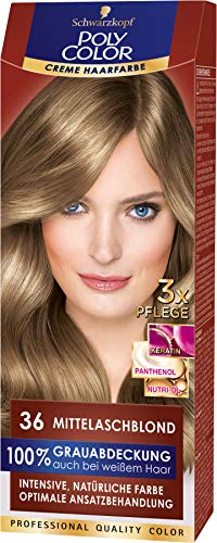 Schwarzkopf Poly Color Coloration 36 Mittelaschblond, 1er Pack (1 x 115 ml)