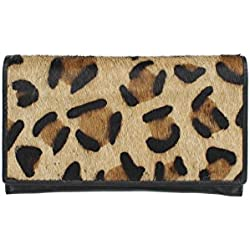 Mala Leather Colección MATRAH Monedero de Impresión Animal de Cuero 3314_90 Leopardo cazador