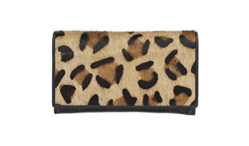 Mala Leather Collezione MATRAH Borsetta in Pelle con Stampe di Animali 3314_90 Zebra Ghepardo
