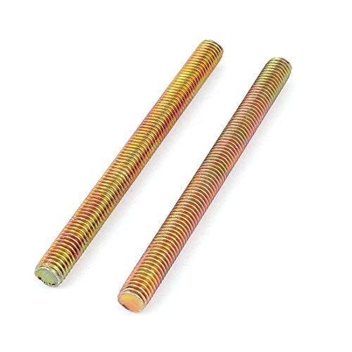 1,25 mm Pitch M8 x 100 mm Außengewinde Rod Bar Bronze Tone 2 Stück
