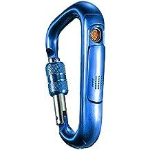 ... cierre de hebilla, USB, recargable, resistente al viento, con mosquetón de aluminio, forma de D, con hebilla de cierre y cierre de hebilla, para colgar ...