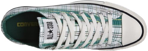 Converse CT AS SP OX 113962, Unisex - Erwachsene Sneaker Grün (White/Green Check)