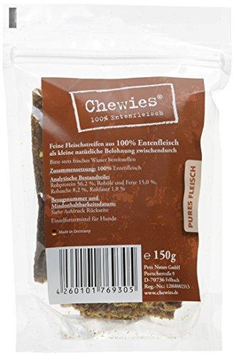 Chewies Fleischstreifen Ente 150 g, 8er Pack (8 x 150 g) -