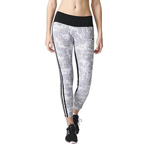 Adidas Ess 3S Tigt Aop Collant, Bianco (Blanco/Negro), M