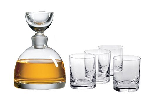 Ravenscroft Crystal Tradewinds Decanter 125th Anniversary Limited Edition Gift Set. Includes One (1) 38-ounce Handmade, Lead-free Decanter and Four (4) 11.75-ounce Classic Double Old Fashioned Tumbler Glasses. by Ravenscroft Crystal (Old Classic Double Fashioned)