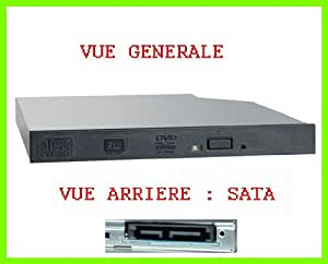 Lecteur Graveur DVD CD SLIM SATA - DVD±RW (±R DL) / DVD-RAM - Graveur Interne pour PC portable de type SATA - Acer - HP - Sony - Samsung - Dell - Fujitsu - NEC - Toshiba - Compaq - Asus - MSI - LG - etc ... sous windows seven / 7 / Vista / XP