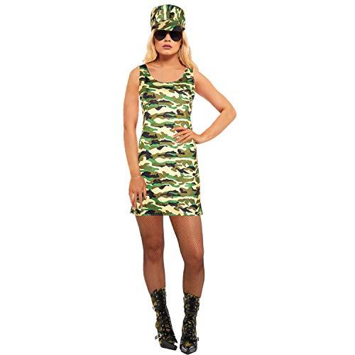 sowest Damen Kommando Soldat Mädchen Kostüm Kostüm Camo Army Outfit Frauen