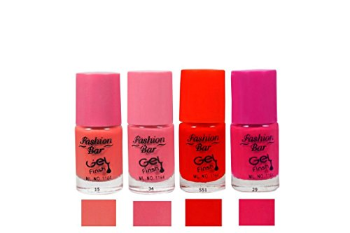 Fashion-Bar-15-34-551-29-Nail-Polish-ComboPeach-Neon-Pink-Neon-Red-Redish-Pink20mlPack-of-4