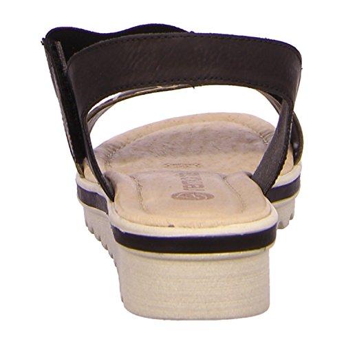 Remonte wedged cinturino in Velcro, colore: nero Nero (nero)