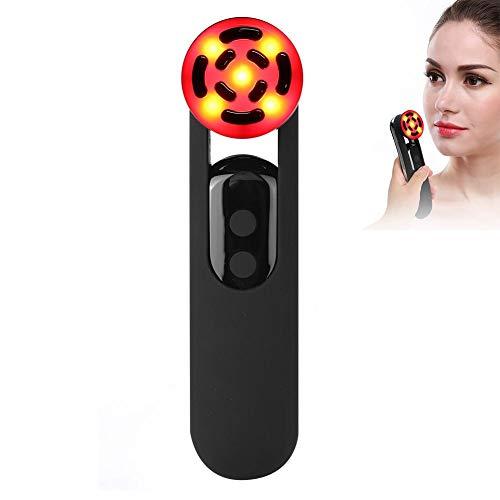Dispositivo de Belleza por Ultrasonidos, RF Dispositivo de belleza facial Multifuncional, Cuidado de la piel de Fotón ION Anti-aging, Facial Adelgazar Antienvejecimiento Regalo para mujeres (Negro)