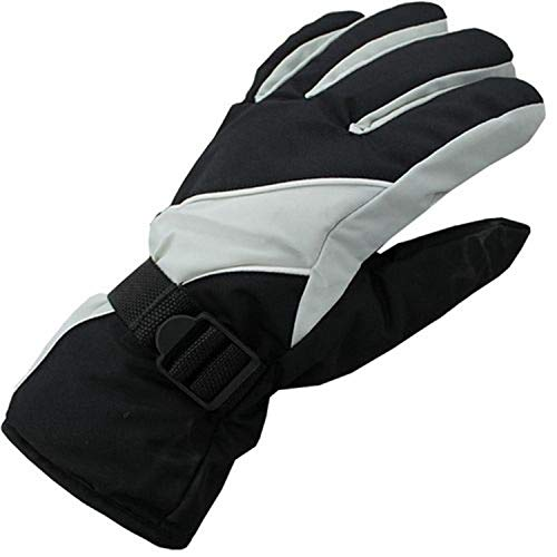 RichLong Antiskid Wear Resistant Riding Ski Gloves Mountain Skiing Snowmobile Waterproof Snow Motorcycle Windproof Warm Gloves (Black) Black Snow Glove