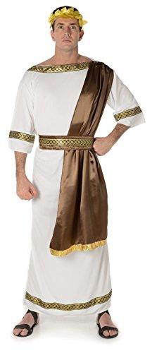 Das Antike Rom Kostüme (Römischer Kaiser Herren Antike Historische Rom Griechische Erwachsene Toga Kostüm (Large Biz su 44