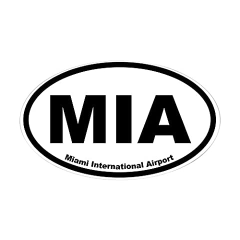 CafePress - Miami International Airport Oval Sticker - Oval Bumper Sticker Car Decal