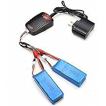Creation® 2pcs 7.4V 2000mAh Batería Mejorada del plátano enchufe + cargador para Syma X8C X8W X8G X8HC X8HW X8HG RC Quadcopter