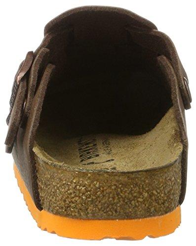 Birkenstock Kay Birko-Flor, Sabots Mixte Enfant Marron (Desert Soil Brown/Ls Orange)