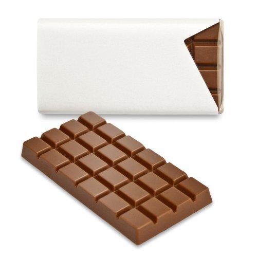 Schokoladena Schokotäfelchen 50 St. Milchschokolade blanko für individuelle Gestaltung als Gastgeschenke und Tischkarten, inkl. Tintendruck-Etiketten