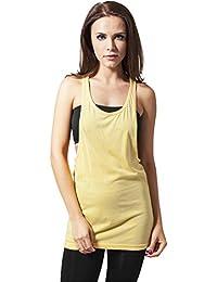 Urban Classics Damen Sport T-Shirt Ladies Loose Burnout Tanktop