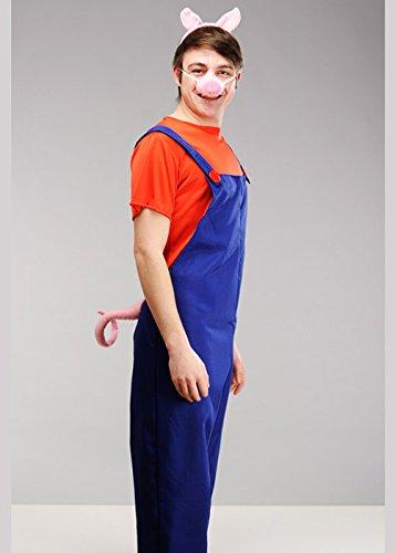 Magic Box Int. Das kleine Schwein-Kostüm der Erwachsenen Männer DREI Large (42-44