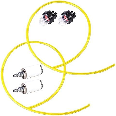3 piedi di carburante Linee + filtro del carburante + Snap in Primer kit di lampadina adatto per motoseghe Trimmer soffianti